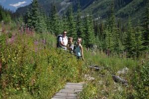 Family hike to Gorman Lake